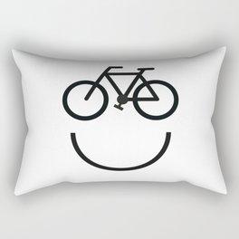 Bike face, bicycle smiley Rectangular Pillow