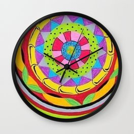 Circle Flower Wall Clock