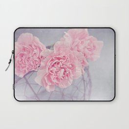 Pale Pink Carnations Laptop Sleeve