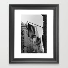 New York, NY.  Patriotism Framed Art Print