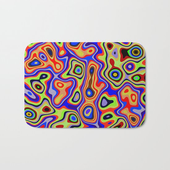 Cool colorful patterns abstract Bath Mat