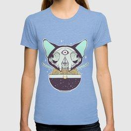 Cat Skull Ramen Noodles Anime Artwork T-shirt