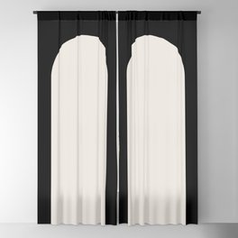 Minimal Arch - Black and White Blackout Curtain