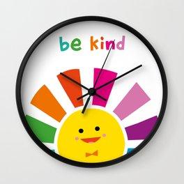 Be Kind Sun  Wall Clock
