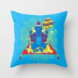 Elephant God Throw Pillow
