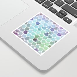 TWEEZY PATTERN OCEAN COLORS byMS Sticker