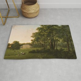 Classical Masteripiece 'A View of the South Front of Bower House, Havering-atte-Bower' by Abraham Pe Rug