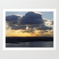 Sunrise in The Clouds Art Print