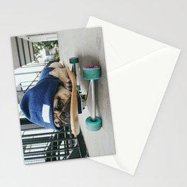 Skater Pug Stationery Cards