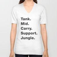 league V-neck T-shirts featuring League Shirt by hana prints