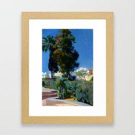 Joaquin Sorolla y Bastida Corner of the Garden, Alcazar, Sevilla Framed Art Print