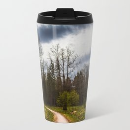 road in a forest Travel Mug