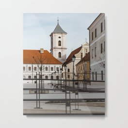 Square at old fortress Osijek, Croatia / Minimal / Lines Metal Print