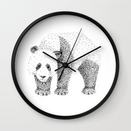 Ailuropoda Melanoleuca Wall Clock