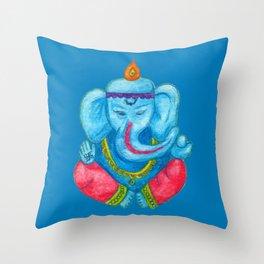 Ganesh pencil watercolours Throw Pillow