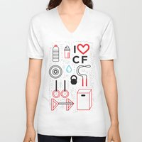 crossfit V-neck T-shirts featuring CrossFit Love by Golden Heart