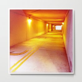 Yellow Echo Metal Print