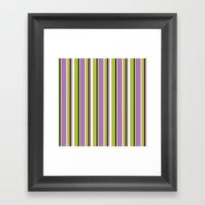 Fun Stripes purple green Framed Art Print