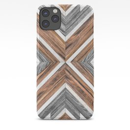 Urban Tribal Pattern No.4 - Wood iPhone Case