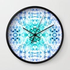 Floral Print - Teal & Purple Wall Clock