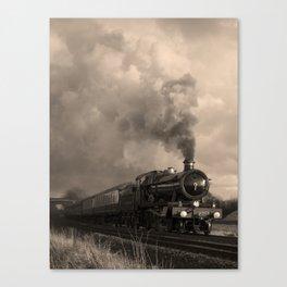 Rood Ashton Hall making up time - sepia Canvas Print