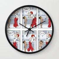 ramen Wall Clocks featuring Makin' Ramen by Waffle Guru