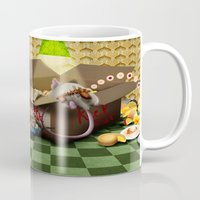 sofa Mugs featuring Oook builds a sofa by togsos
