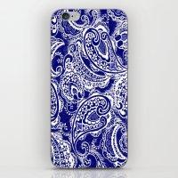 batik iPhone & iPod Skins featuring paisley batik by Ariadne