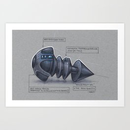 Iron Giant Bolt Art Print