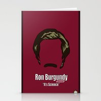 anchorman Stationery Cards featuring Ron Burgundy: Anchorman by BC Arts