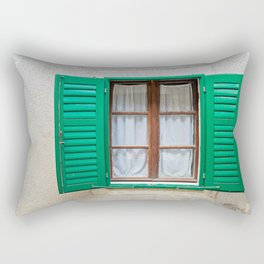 Typical window in a house in Croatia Rectangular Pillow