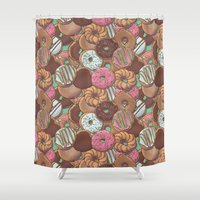 donuts Shower Curtains featuring Donuts by Mario Zucca