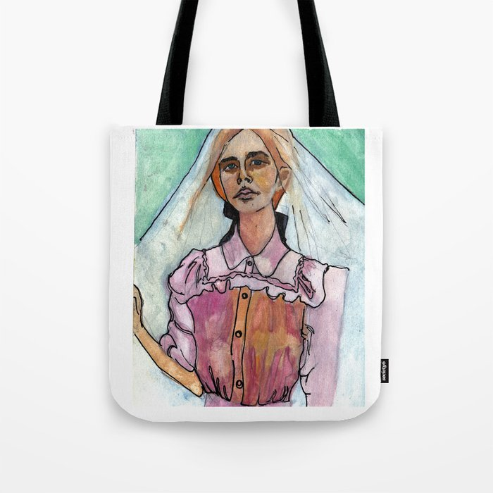 Girl in the Grass IV Tote Bag