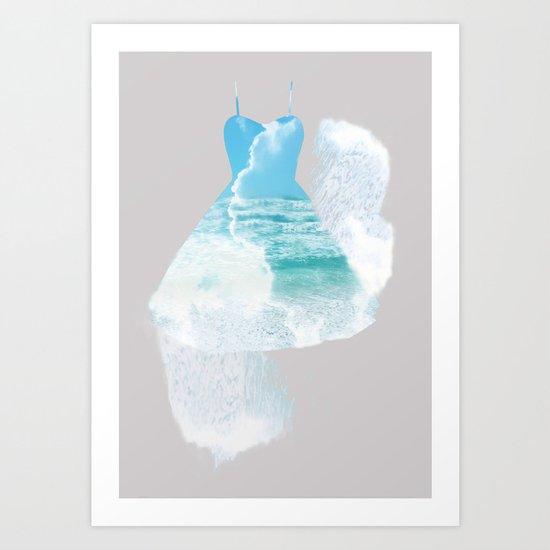 Dancing sea Art Print