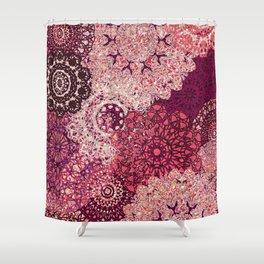 Terra Rose Mandalas Shower Curtain