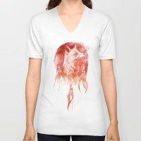 bruno mars V-neck T-shirts featuring Mars by Robert Farkas