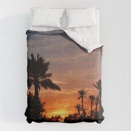 coucher de soleil Comforters