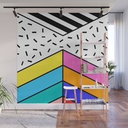Energetic Dancing Dots Wall Mural