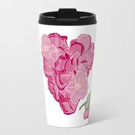 Heart of flowers Travel Mug