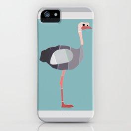 Paint Chip Ostrich iPhone Case