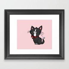 Happy Kitten Framed Art Print