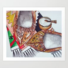 Opinci - Traditional shoes from Romania  Art Print