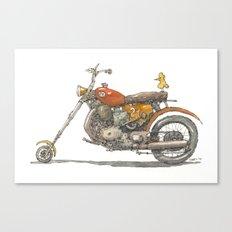 Birdie's Bike Canvas Print
