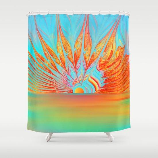 Splendid Sunrise Shower Curtain