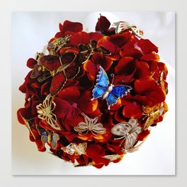 Butterfly Brooch Bouquet Canvas Print
