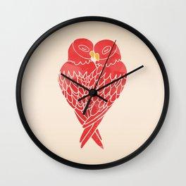Love Birds (Red) Wall Clock