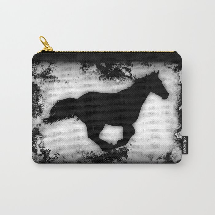 Western-look Galloping Horse Silhouette Carry-All Pouch