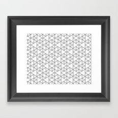 Karthuizer Grey & White Pattern Framed Art Print