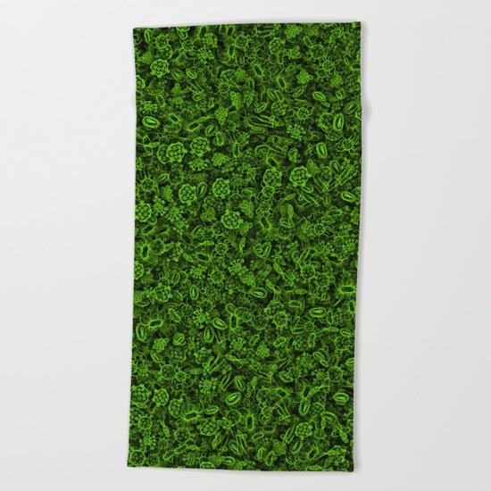 Green micropets Beach Towel