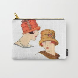 Vintage Flapper Fashion Hats Carry-All Pouch